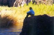 Milton Joseph in wilderness